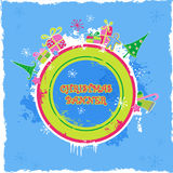 Round holiday banner royalty free illustration