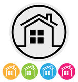 Round Home Icon Royalty Free Stock Photos