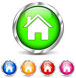 Round home icons Royalty Free Stock Photo