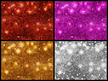 Round horizontal mosaic backgrounds set Royalty Free Stock Image