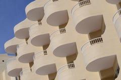Round hotelowi balkony hotel obraz stock