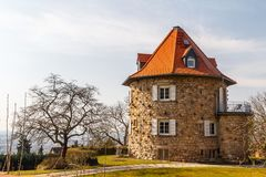 Round house in Heppenheim small town. Germany Stock Image