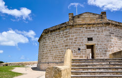 The Round House, Heritage Site: Fremantle, Western Australia. FREMANTLE,WA,AUSTRALIA-NOVEMBER 19,2015: Heritage Site, The Round House, 12-sided limestone Stock Photography