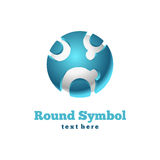 Round icon. Abstract symbol Royalty Free Stock Photography