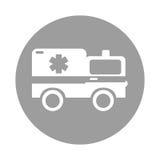 Round icon ambulance car cartoon Stock Photos