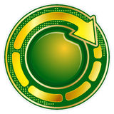 Round icon with arrow Royalty Free Stock Image