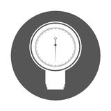 Round icon blood plessure apparatus Royalty Free Stock Images