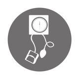 Round icon blood plessure apparatus Stock Photo
