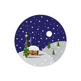 Round icon Christmas. Stock Image