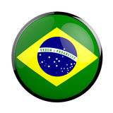 Round icon flag of Brazil. Royalty Free Stock Photography
