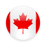 Round icon with flag of Canada Royalty Free Stock Photos