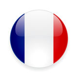 Round icon with flag of France Royalty Free Stock Photo