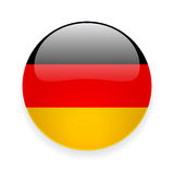 Round icon with flag of Germany Stock Image