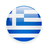 Round icon with flag of Greece Royalty Free Stock Photos