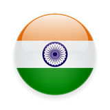Round icon with flag of India Royalty Free Stock Images
