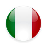 Round icon with flag of Italy Royalty Free Stock Photos