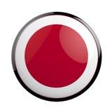 Round icon flag of Japan. Royalty Free Stock Photos