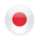 Round icon with flag of Japan Stock Photography
