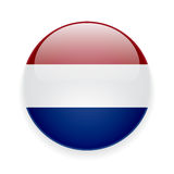 Round icon with flag of Netherlands Stock Photography
