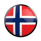 Round icon flag of Poland. Round icon flag of Norway. 3d Illustration Royalty Free Stock Photography