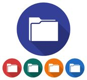 Round icon of folder Royalty Free Stock Image