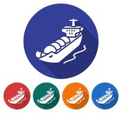 Round icon of  gas tanker Royalty Free Stock Image