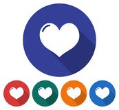 Round icon of heart Stock Photography