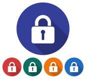 Locked padlock icon Stock Images