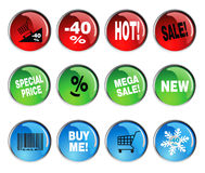 Round icon sets Stock Photo