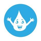 Round icon water drop cartoon Royalty Free Stock Image