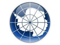 Free Round Icon With Flag Of Antarctica Stock Photos - 117281193