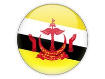 Free Round Icon With Flag Of Brunei Royalty Free Stock Images - 117281259