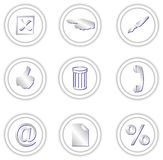 Round icons Royalty Free Stock Images
