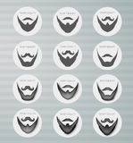 Round icons beard with mustache Royalty Free Stock Images