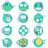 Round Icons Machines Royalty Free Stock Photo