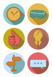 Round Icons in river colors Stock Photos