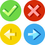 Round icons set. Four round icons set for web and presentation Royalty Free Stock Photography