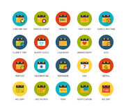 Round  icons thin flat design, modern line stroke. Round icons thin flat design, modern line stroke style, web and mobile design element, objects and vector Royalty Free Stock Photo