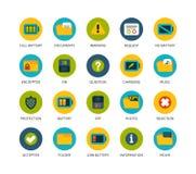 Round icons thin flat design, modern line stroke Stock Photos