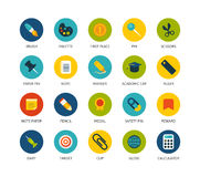 Round icons thin flat design, modern line stroke Stock Photo
