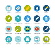 Round icons thin flat design, modern line stroke Royalty Free Stock Images