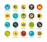 Round icons thin flat design, modern line stroke Royalty Free Stock Image