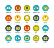 Round icons thin flat design, modern line stroke Royalty Free Stock Photo