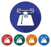Round ikona ATM slot na kartę Ilustracji