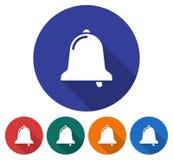 Round ikona dzwon ilustracja wektor