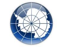 Round ikona z flaga Antarctica Zdjęcia Stock
