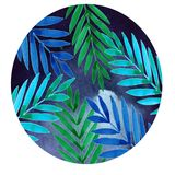 Round illustration with fern vector illustration