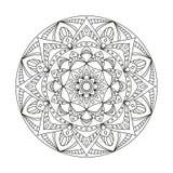 Round Indiański ornament, ręka Rysujący mandala/ Fotografia Stock