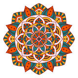 Round Indiański ornament, ręka Rysujący mandala/ Zdjęcia Stock