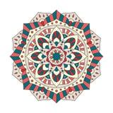 Round Indiański ornament, ręka Rysujący mandala/ Obraz Royalty Free